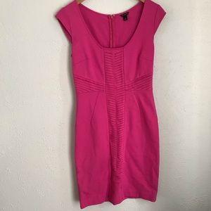 ANN TAYLOR Hot Pink Cap Sleeve Sheath Dress - SZ 0